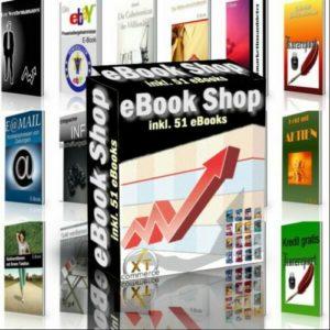 eBook Shop (xtCommerce) mit 51 eBooks - Master Reseller Lizenz