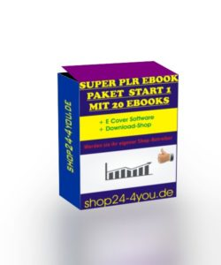 Super PLR ebook Paket Start 1 mit 20 PLR eBooks!