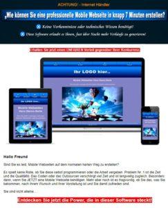 Mobile Webseite- Generator mit PLR